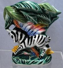 Ceramic Zebra Wall Pocket  ( possible Fitz & Floyd)