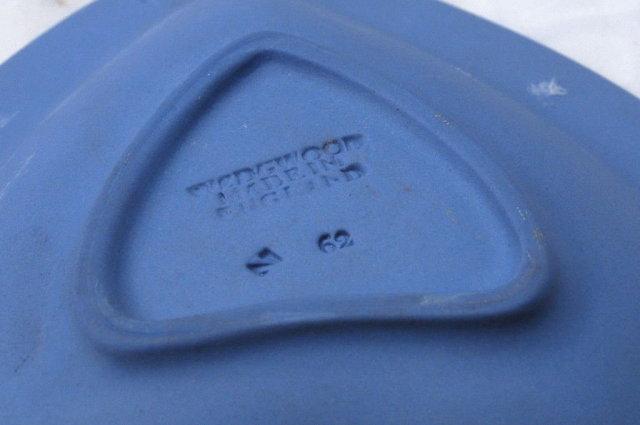 Wedgwood Blue Jasperware Heart  Dish