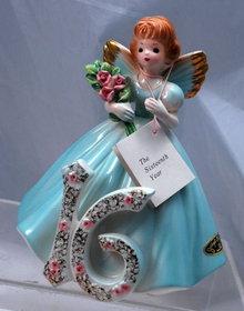 Josef Originals Sweet 16 Angel Girl Figurine, Japan with tags