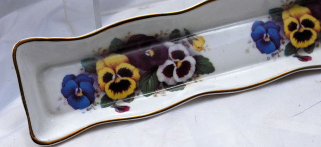 Pansy Pin Tray, Fine Bone China England