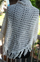 Beautiful Vintage Crochet Wrap, Shawl by Elwrin Made in Japan.