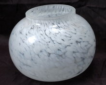 White/ Clear Art Glass Bowl or Votive by Thomas O'Brien Vintage Modern collection