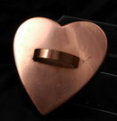 Large Solid Copper Heart Cookie Cutter  , Tin Lined