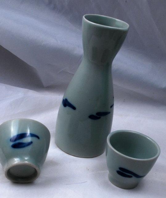 Small Japanese Sake Set   **PRICE REDUCED**!