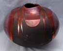 Large Raku Pottery Vase Ceramic artist Tony Evans , hand formed   **PRICE REDUCED**!