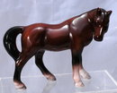 Brown Black White  Ceramic Horse Wales Japan