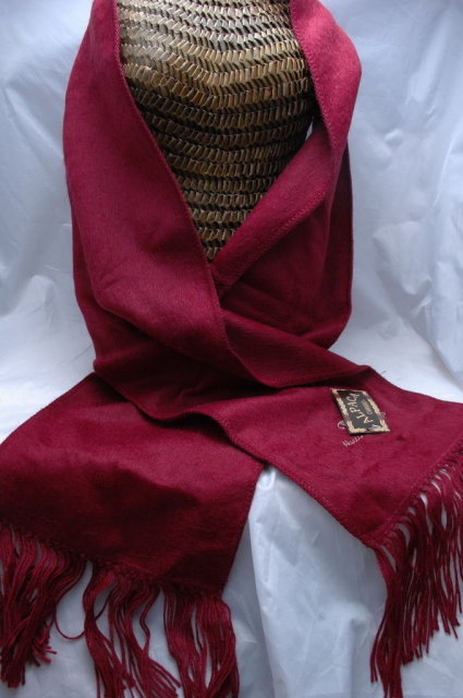 Brushed Alpaca Scarf with Fringe from Peru  New with Tags