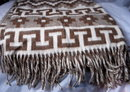 Natural Alpaca Blanket Throw with Fringe , New  from Peru