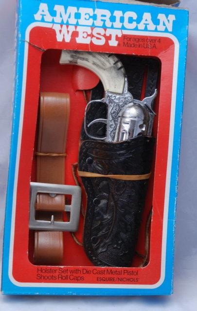 Pony Boy Toy  Die Cast Cap Gun with Holster in Box  -Esquire Nichols