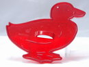 HRM Vintage Red Plastic Cookie Cutter -  Duck