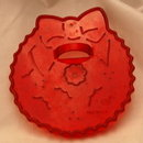 HRM Vintage Red Plastic Cookie Cutter - Christmas  Wreath