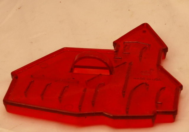 HRM Vintage Red Plastic Cookie Cutter -  Church