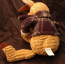 Chenille Stuffed  Reindeer , Ruloph? In Plaid Jacket