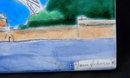 Eiffel Tower Tile, Hand Painted , Signed   Jesse Johanson