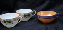 3  Porcelain  China Luster Tea Cups