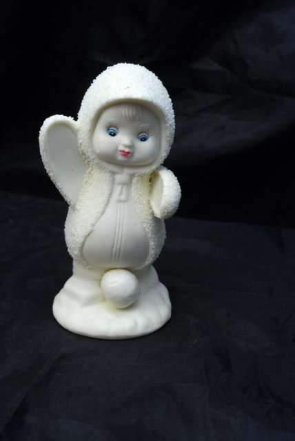Bisque Porcelain Snow Baby