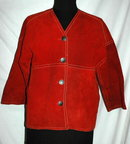 Bill Atkinson Glenn of Michigan Rust  rough side out Leather Jacket Coat 1960's.