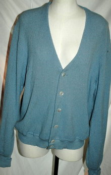 Alpaca Vintage Golf Sweater , Vintage   Nordstrom's  Blue XL   **PRICE REDUCED**!