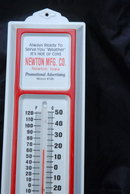 Advertising Metal Thermometer, Newton MFG.