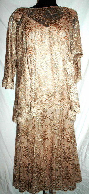 Pat Richards by Michael Maiello Beaded Tassel  Stretch Lace 2 pc Dress   **PRICE REDUCED**!