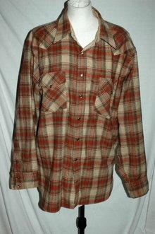Vintage  Pendleton Wool  Plaid Shirt High Grade Western Wear Snap Shirt  XL    **PRICE REDUCED**!