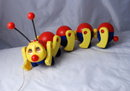 Kiddicraft Caterpillar Vintage Pull Toy -