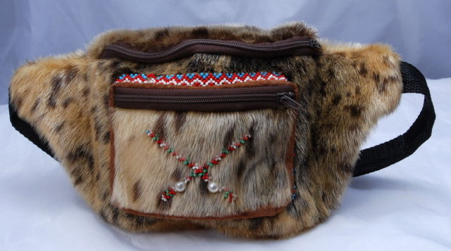 Native Alaskan Eskimo Authentic Beaded  Seal Skin Fanny Pack **Price Reduced**