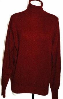 Hamilton of  Scotland  Cashmere Sweater  Turtle Neck Maroon Size L