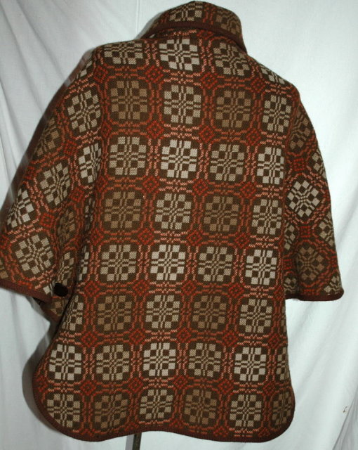 Welsh Tapestry Cape Poncho Jacket Dillad Coracle (Corugl Clothes)  PRICE REDUCED