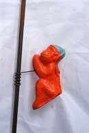 Monkey on Stick  Pole Climber Toy .Antique Carnival Penny  Toy