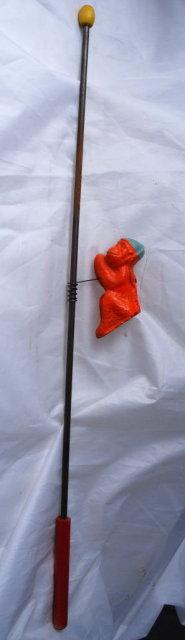Monkey on Stick  Pole Climber Toy .Antique Carnival Penny  Toy