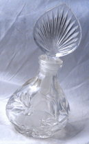Full Lead    CRYSTAL PRINCESS HOUSE PERFUME BOTTLE  WITH STOPPER.