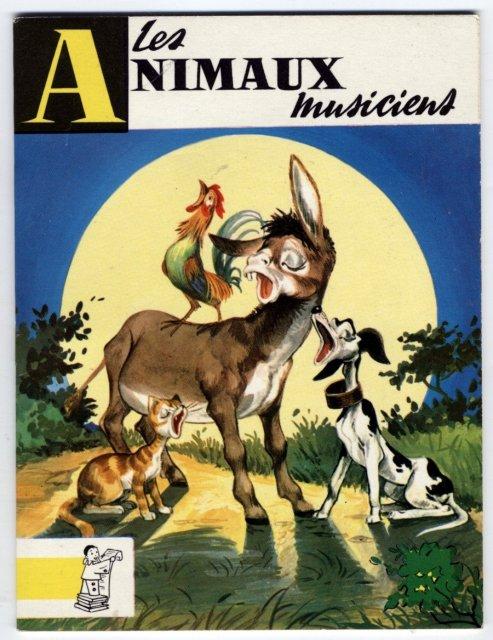Les animaux musiciens  Grimm - Adaptation de Claire Audrix .  Illustrations de Pierre Nardin