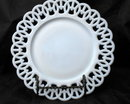 Westmoreland Milk Glass Plate Wicker Edge 9