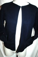 I. Magnin Dark Blue Wool Cardigan Sweater