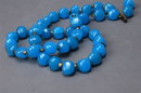 Blue Peking or Italian  Glass Beaded Necklace marked Italy   **PRICE REDUCED**!