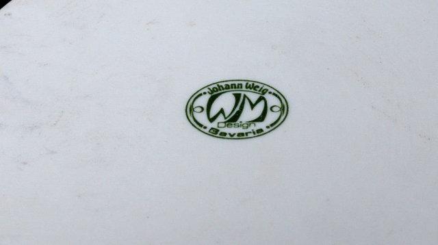 JOHANN WEIG BAVARIA  COAT OF ARMS ROUND  TRINKET BOX
