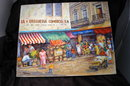 Lively Mexican or Latin American  Street Scene Oil Painting on Canvas  Signed by    Andersen 88