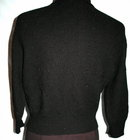 Vintage Black Beaded Sweater with Applique , Fine Alpaca