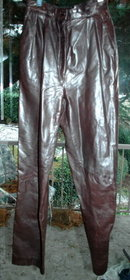 Vintage Soft Brown Leather Pants   25