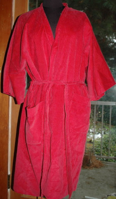Vintage 1940s Mens Smoking Jacket Robe  from Littler Seattle, Wash.    Red size med. large **PRICE REDUCED!**