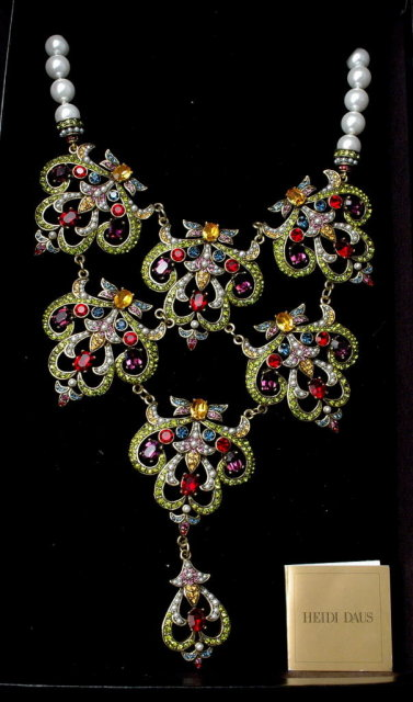 Heidi Daus Elegant Jewels & Pearls Necklace  **PRICE REDUCED!**