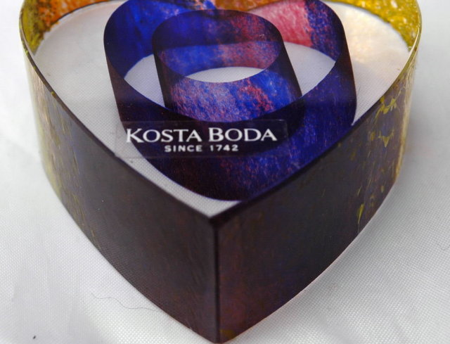 Kosta Boda My Heart Glass Paperweight