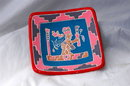 Old Mexican Pottery  Aztec Wall Decoration  Square Dish   Unusual