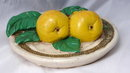 Old Pear Plaster Wall Plaque  vintage kitchen decor