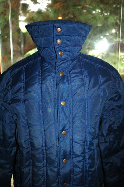 Vintage 70's Men's  1st Down Puffy  Goose Down Quilted Jacket size L