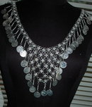 Silver Chain and Dangling  Coin Belly Dancing Belt or Necklace