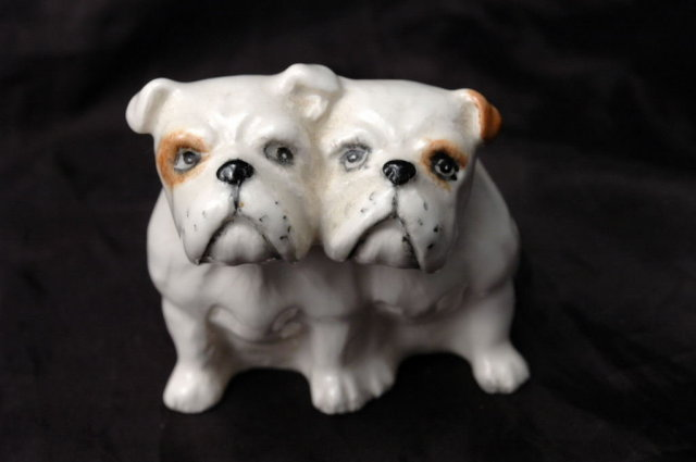 Beswick Seated Bulldogs Porcelain Figurines