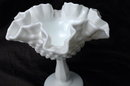 FENTON ART MILK  GLASS HOBNAIL MILK GLASS COMPOTE 6