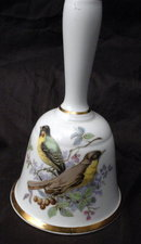 Countess Fine Bone China England Dinner Bell  Audobon Style Birds